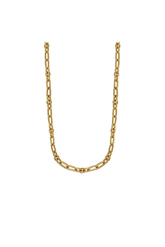 Cadena mini asimétrica con eslabones en oro amarillo - 179€