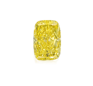 Anillo diamante Fancy Vivid Yellow de 5,01 quilates con montura de platino, subastas Sotheby's NYC