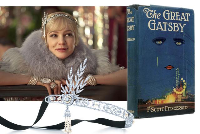 The Great Gatsby con joyas de Tiffany & Co.