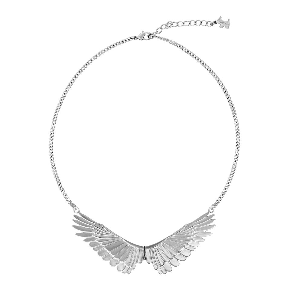 Collar Belle d'Opera en metal motivo plumas de cisne