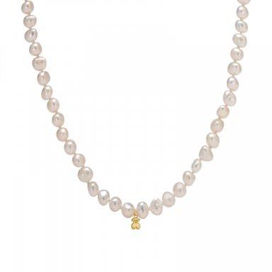 Collar Tous en oro amarillo con perlas barrocas de 6mm - precio de 85€
