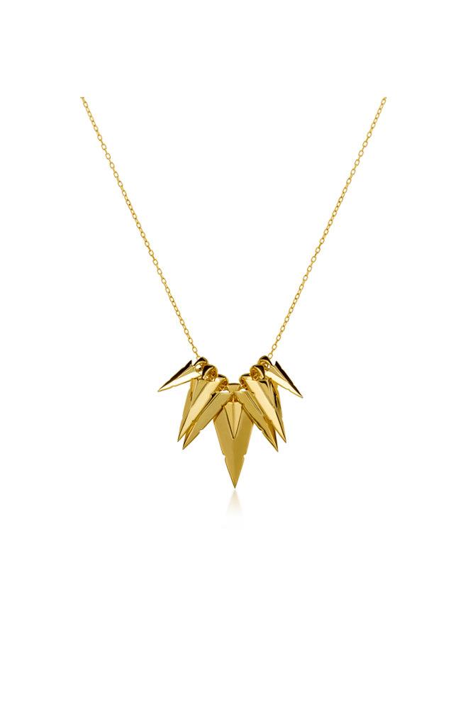 Collar Aristocrazy Puntas de Flecha en plata con baño de oro