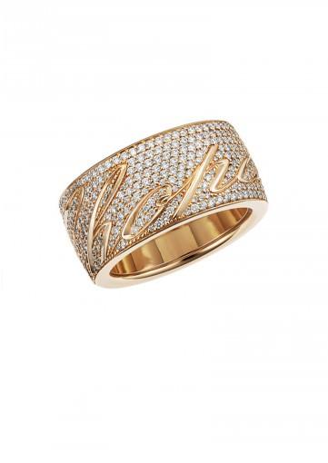 Alianza Chopardíssimo en oro rosa de 18 quilates y diamantes