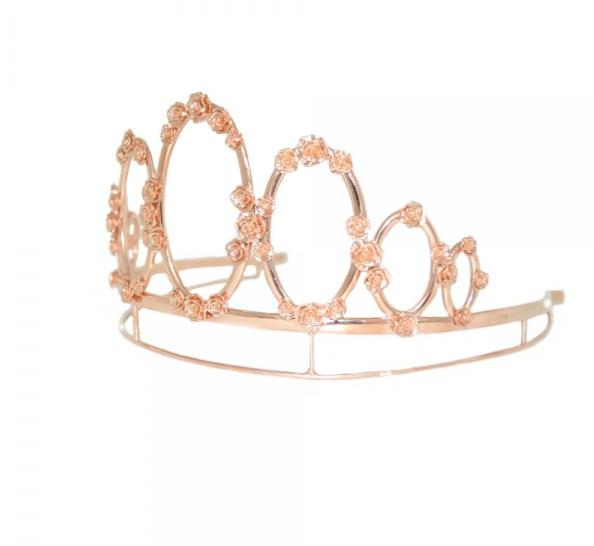 Tiara MdeU en plata bañada en oro rosa. Precio 3.900€