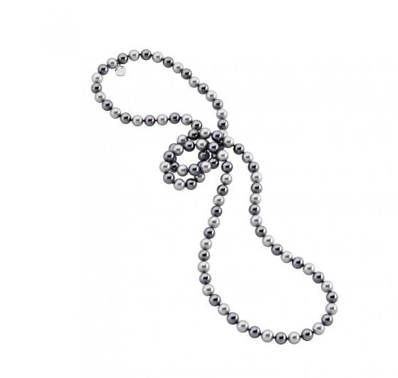 Collar Fancy con perlas multicolores de 8mm - precio 265€