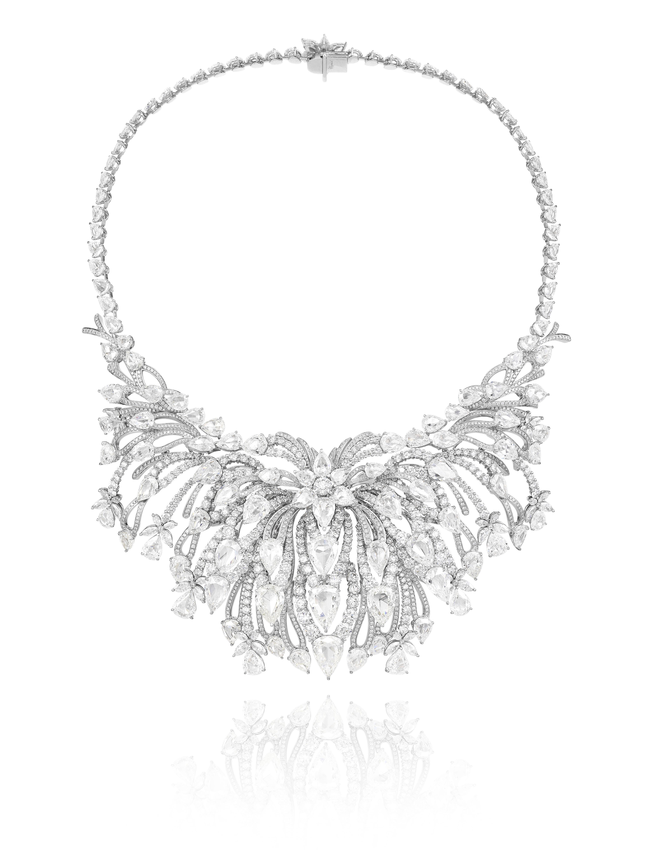Collar Riviera, Red Carpet Collection 2014 en oro blanco 18 quilates engastado con 22qts de diamantes brillantes, 3,38 quilates
