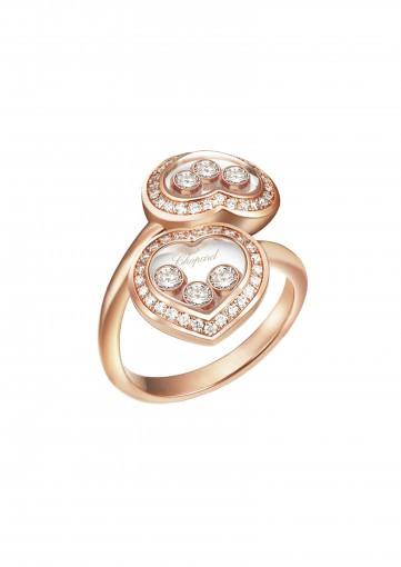 Sortija Happy Diamonds Icons en oro rosa y diamantes