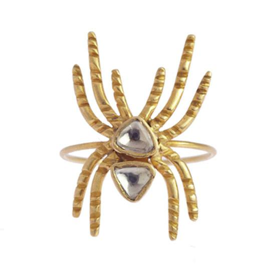 Anillo araña de Honorine Jewels en oro amarillo 18 quilates y diamantes