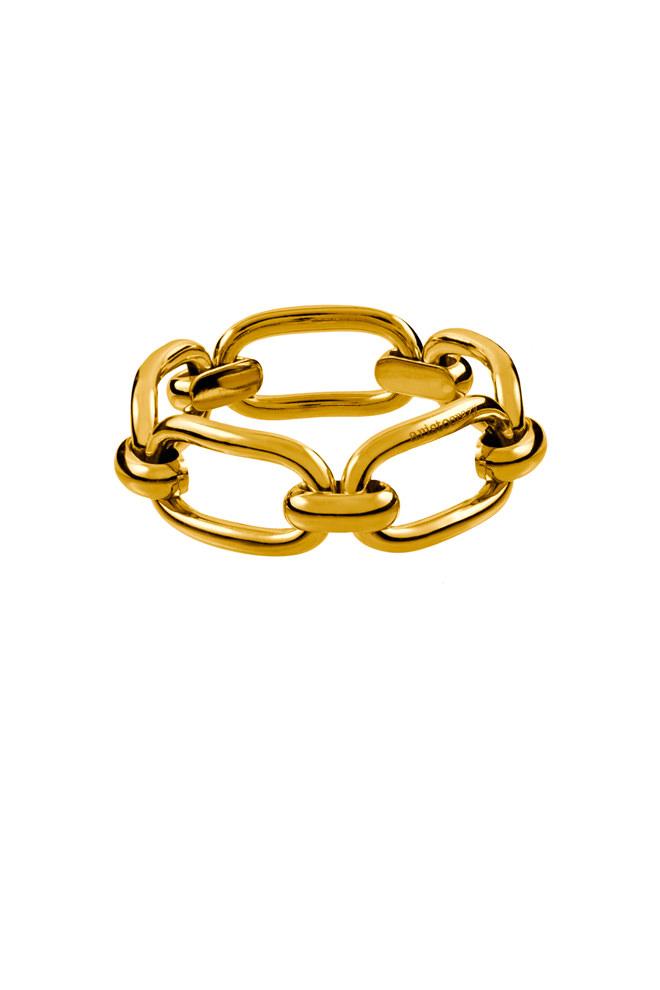 Pulsera eslabones cuadrados Aristocrazy en plata con baño de oro amarillo - 399€