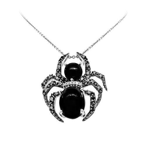 Colgante Araña de Fred Meyer Jewelers en diamantes y ónice
