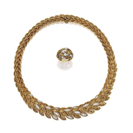 Joyas de Van Cleef & Arpels en oro de 18 quilates, platino y diamatnes. Circa 1960. Valor estimado entre 12.000 y 18.000U$