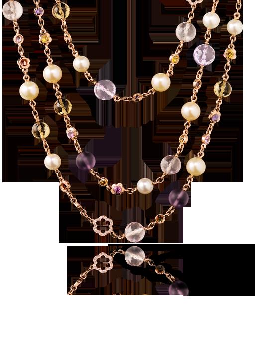 Collar barroco de Chanel con perlas cultivadas, oro rosa, zafiros de color, piedras finas y diamantes - precio no publicado