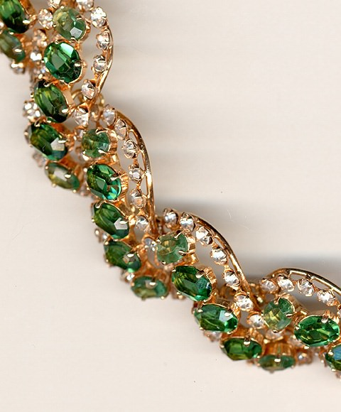 Collar Dior en oro, peridotos y diamantes