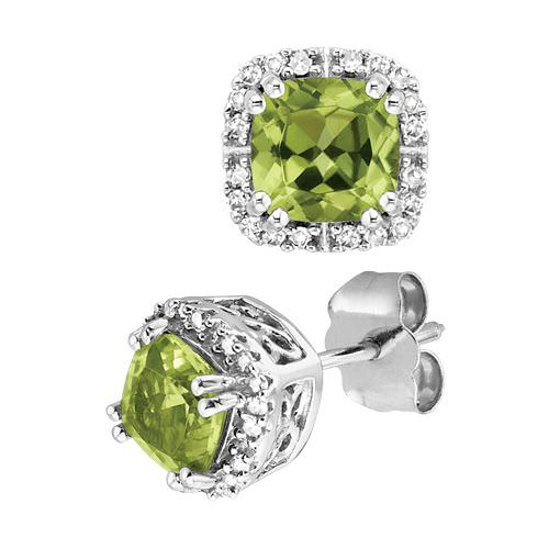 Pendientes Fred Meyer Jewelers en peridotos y diamantes