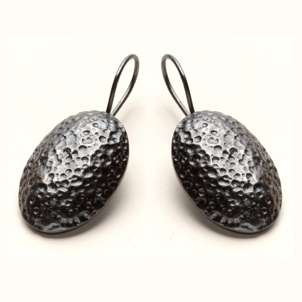Pendientes Ovo en pavoné black martilleado - desde 65€