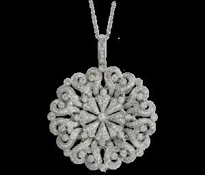 Colgante redondo Dentelle Diamantes Djula - 8.995€
