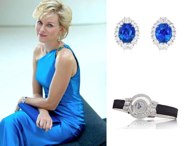 Naomi Watts con joyas de alta joyería Chopard