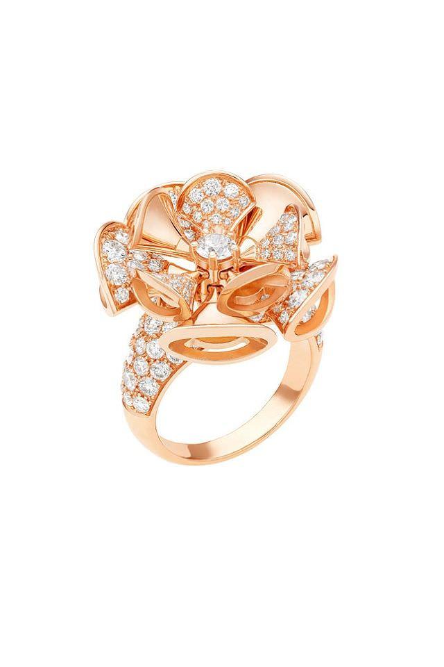 Sortija Diva en oro rosa y diamantes