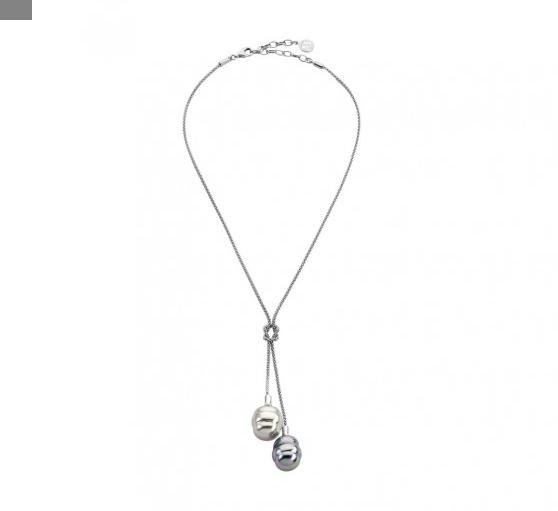 Collar Tender con perla barroca gris nuage de 14 mm - precio 122€