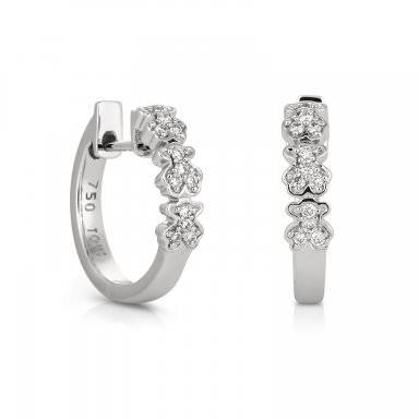 Pendientes Fancy de Tous en oro blanco y diamantes, precio 675€