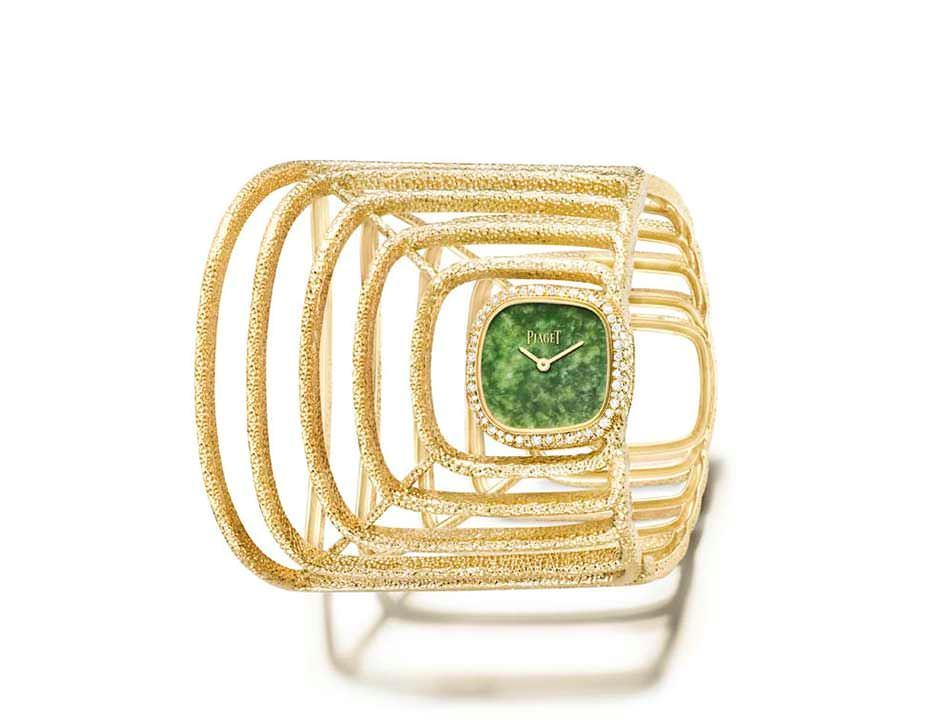 Reloj Piaget en oro amarillo con jade natural y diamantes