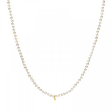 5bc8b9633d9d Collar Tous largo con perlas cultivadas de 7mm en oro amarillo - precio de  95€