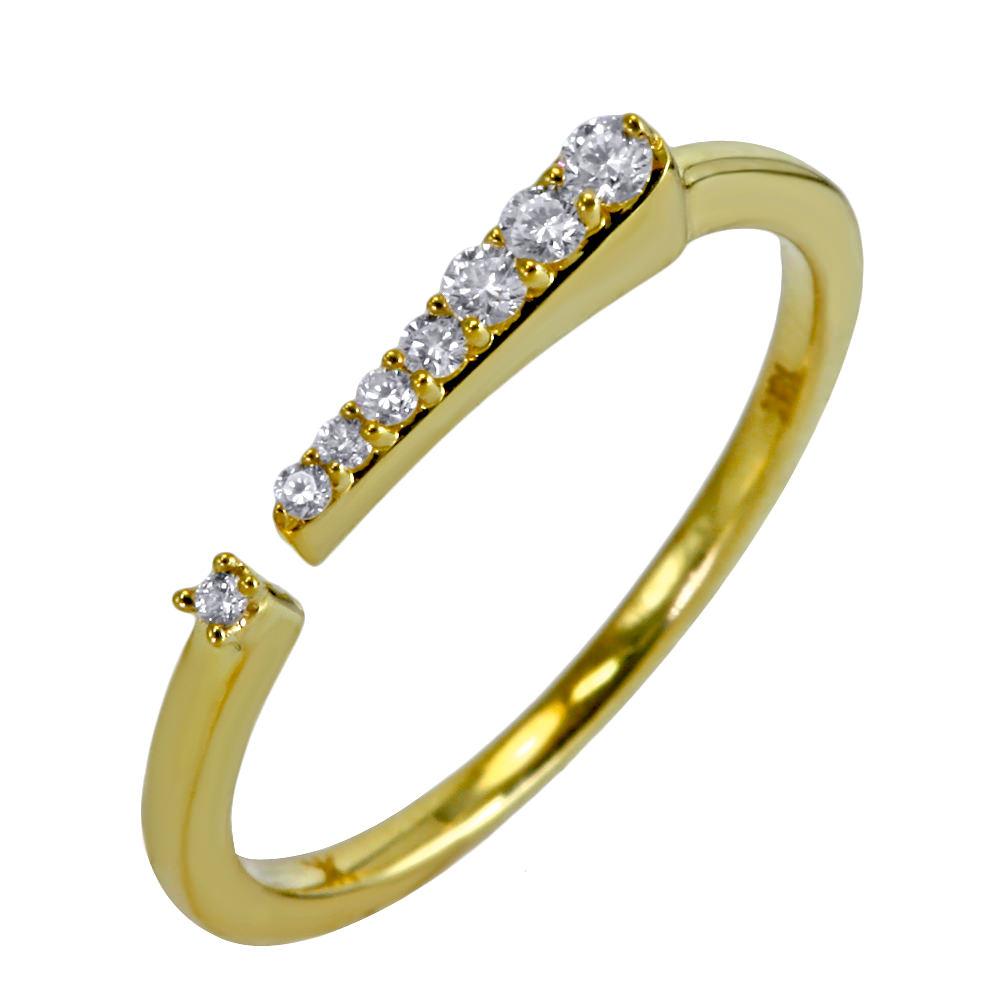 Anillo Exclamación en oro y diamantes - U$630