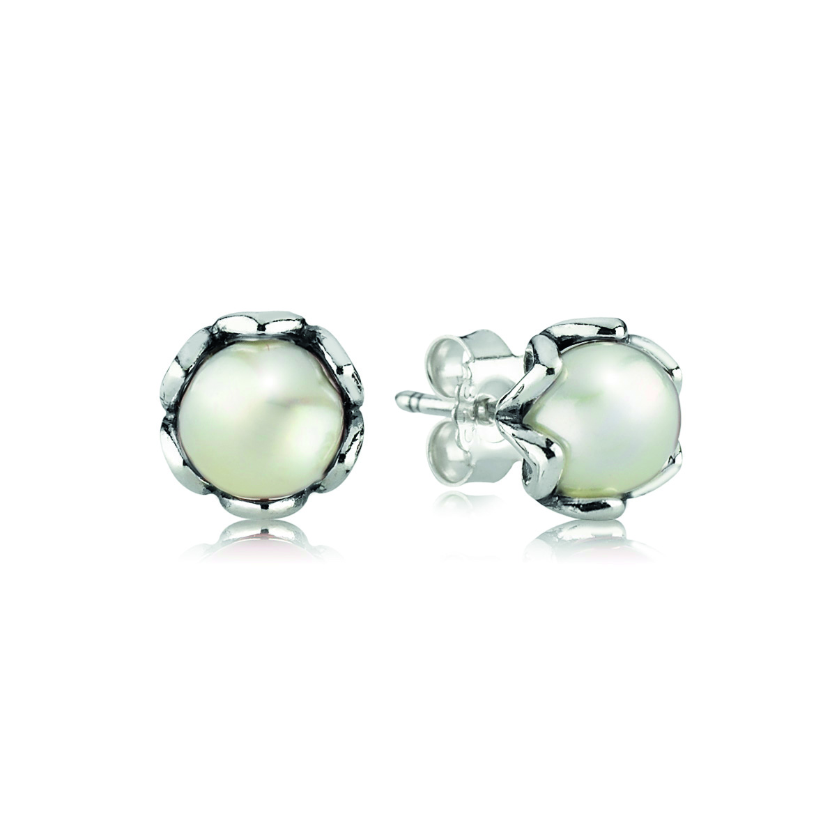 Pendientes Pandora con perlas
