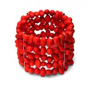 Brazalete Colorín con frijoles naturales de Dalia Pascal