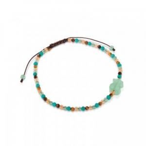 Pulsera Tibet con bolas de gemas en colores - 29€