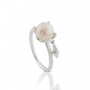 Sortija Handel en plata con perla cultivada, precio 45€