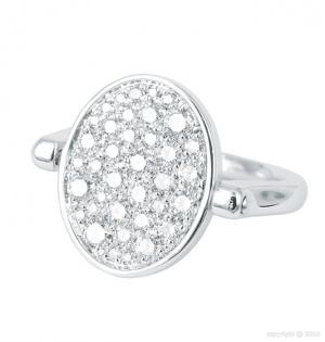 Sortija Twist reversible en pavé total de diamantes blancos