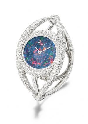 Reloj Piaget en oro blanco con jade natural y diamantes