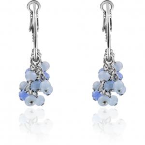 Pendientes Criollas con perlas de cristal en azul