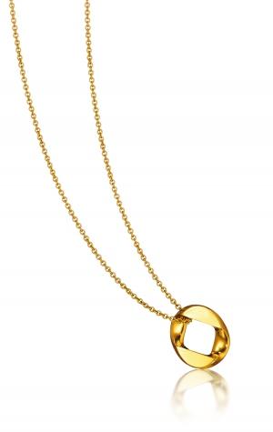 Nuevo Colgante Curb Link en oro amarillo - novedad