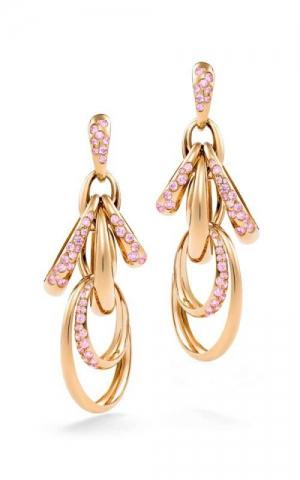 Pendientes Catene De Grisogono en oro rosa y zafiros rosas