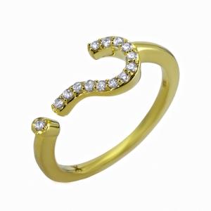 Anillo Interrogación en oro y diamantes - U$910