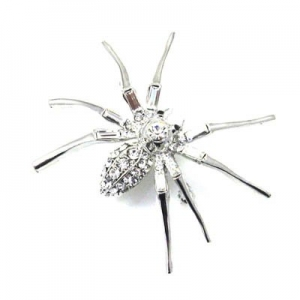 Broche araña de cristales Swarovski