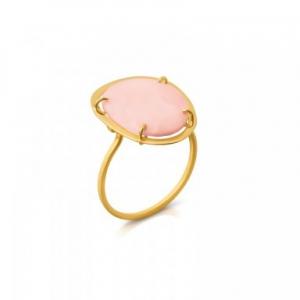 Anillo Dinah en oro amarillo con ópalo rosa, precio 209€