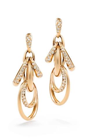 Pendientes Catene en oro rosa y diamantes blancos