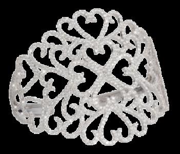 Manchette brazalete Multi-Couers Djula Dentelle en diamantes y oro blanco – 14.995€