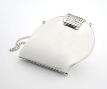 Bolso-joya Silver en plata de ley rodiada de Kollur