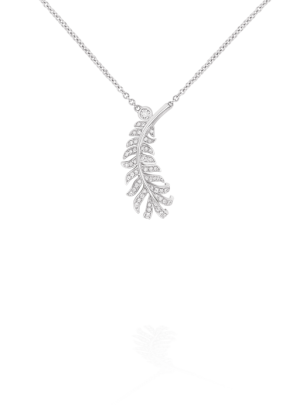 Colgante Plume de Chanel en oro blanco y diamantes