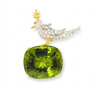 Broche Jean Schlumberger para Tiffany & Co. con peridoto