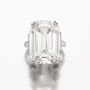 Anillo Graff en platino con un diamante de 22,16 quilates. Valor estimado entre 3 y 4 millones de U$