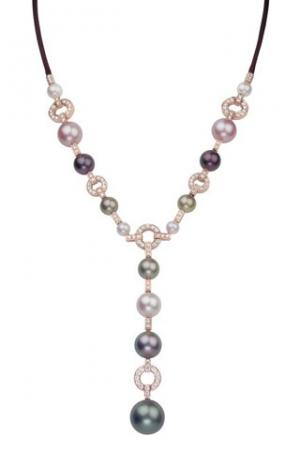 Collar Himalia de Cartier en oro rosa con perlas de Tahití y diamantes - precio desde 30.600€