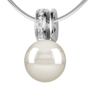 Colgante Anna de 21Diamonds en oro blanco y perla de agua dulce blanca - precio de 1.813€