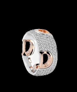 Anillo Damiani D.Icon en oro blanco, rosa y diamantes