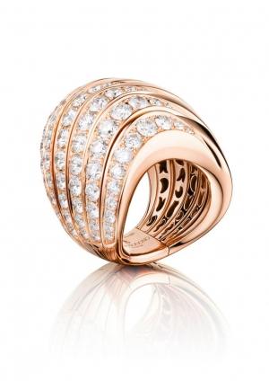 Anillo Catene De Grisogono en oro rosa y diamantes