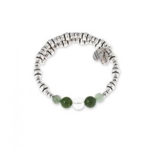 Pulsera Prosperidad  con adventurina verde, jade verde y cuarzo cristal - precio 49€